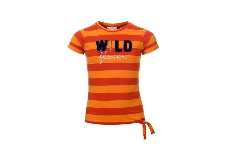Shirt oranje streep