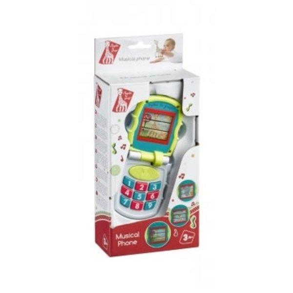 Sophie de giraf muziek telefoon, in wit-rood geschenkdoosje