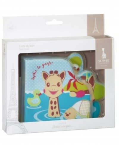Sophie de Giraf Sophie de giraf badboekje in wit geschenkdoosje