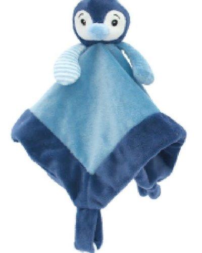 My Teddy pinguïn knuffeldoek roze of blauw