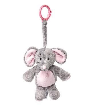 My Teddy My teddy Olifant clip knuffel roze/blauw