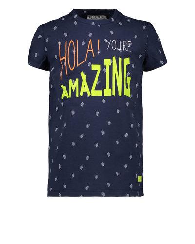 Bampidano Kids Boys T-shirt Allover Navy