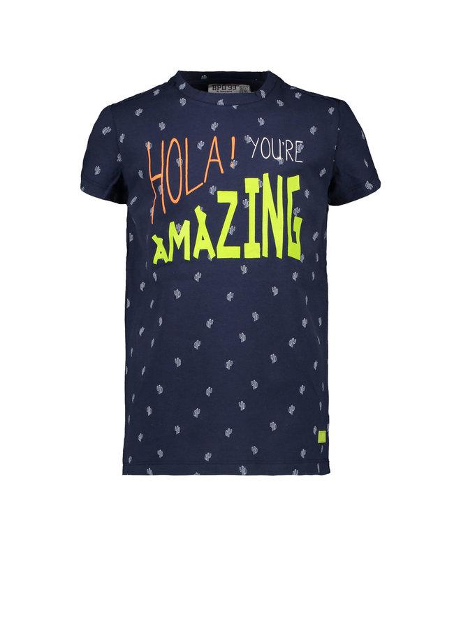 Kids Boys T-shirt Allover Navy
