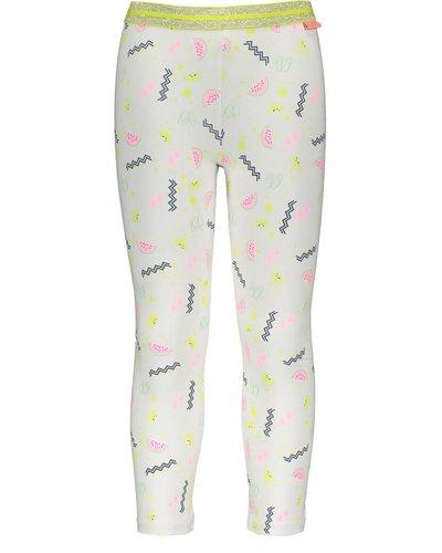 Bampidano Kids Girls Legging Allover Print White