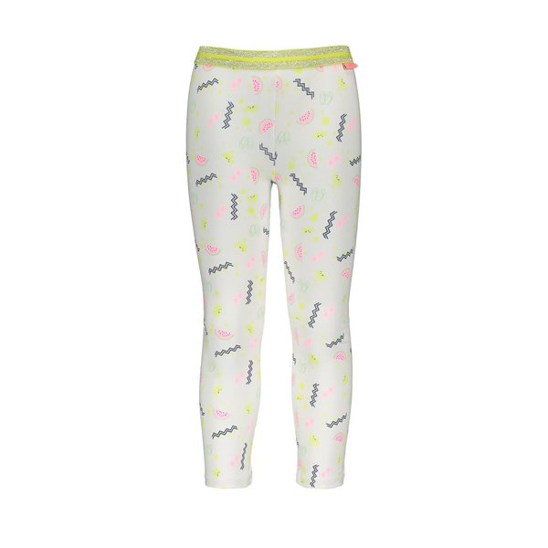 Kids Girls Legging Allover Print White
