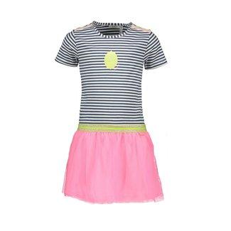 Bampidano Kids Girls Multi Dress Stripe/Roze
