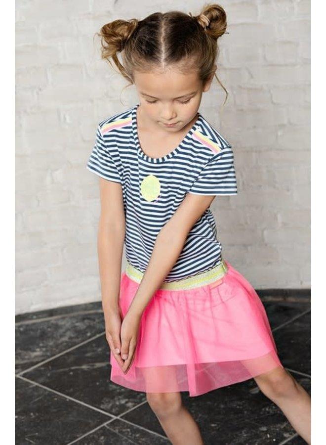Kids Girls Multi Dress Stripe/Roze