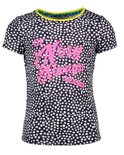 B.nosy Shirt stip roze/blauw