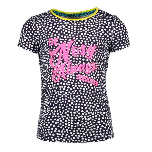 Shirt stip roze/blauw
