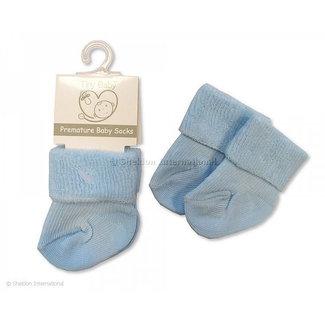 Soft Touch Prematuur sokjes blauw