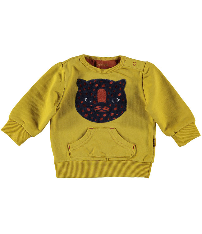 B.e.s.s Sweater  geel tiger