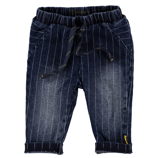 Pants denim striped