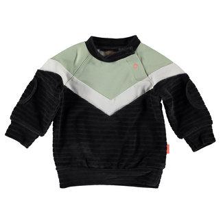 B.e.s.s Sweater velvet colorblock
