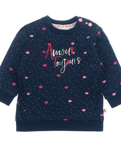 Feetje-baby Sweater Amour Marine - Mon Petit
