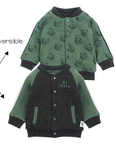 Feetje-baby Omkeerbaar vestje Zwart - Bear Hugs