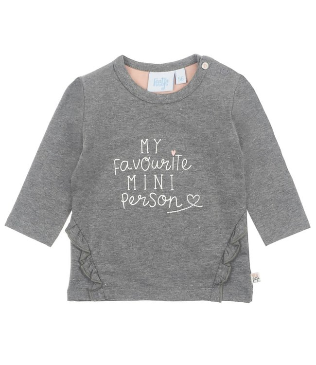Feetje-baby Longsleeve My Favourite Antraciet - Little and Loved