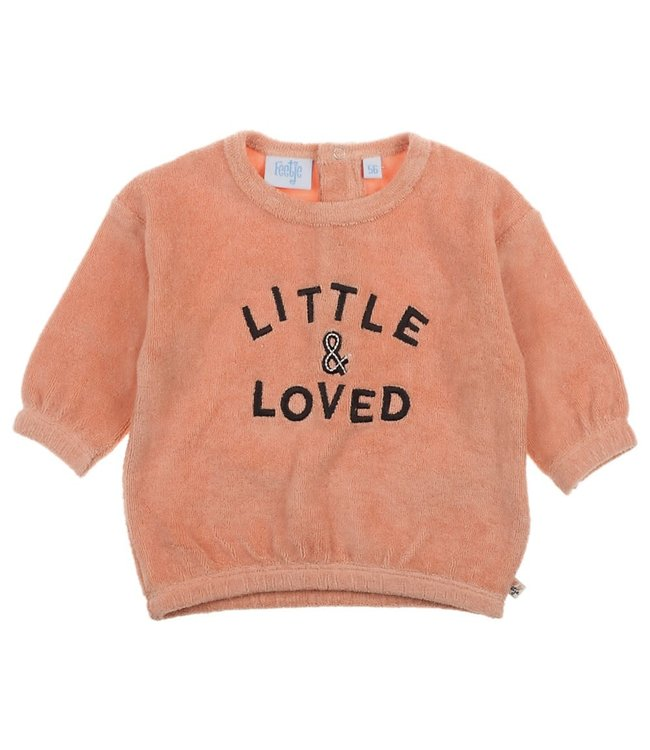 Feetje-baby Sweater Roze - Little and Loved