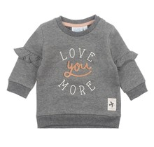 Sweater Love You Antraciet - Litte and Loved