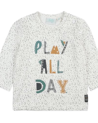 Feetje-baby Longsleeve Play All Day Offwhite - Cars