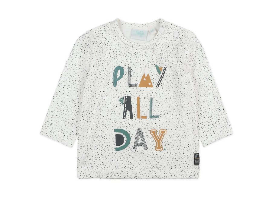 Longsleeve Play All Day Offwhite - Cars