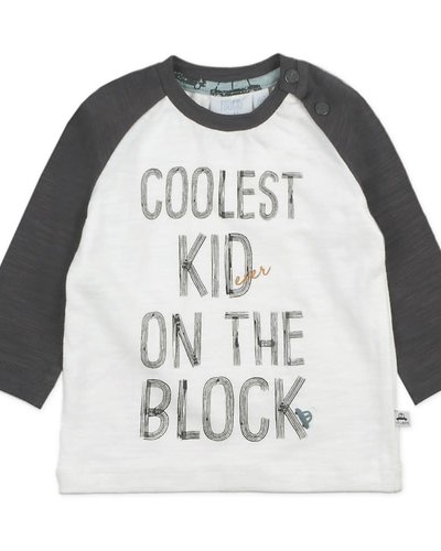 Feetje-baby Longsleeve Coolest Kid Offwhite - Cars