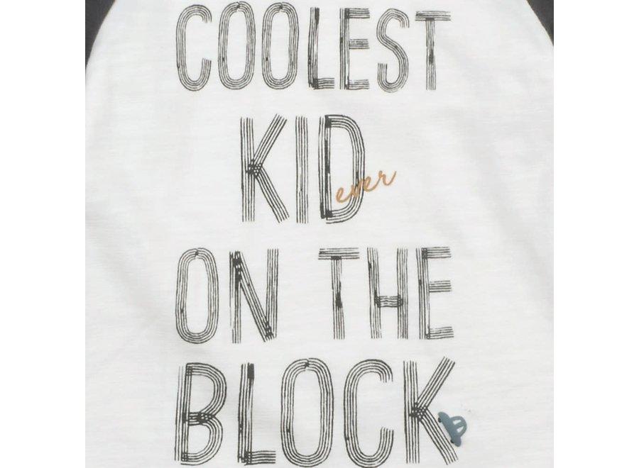 Longsleeve Coolest Kid Offwhite - Cars