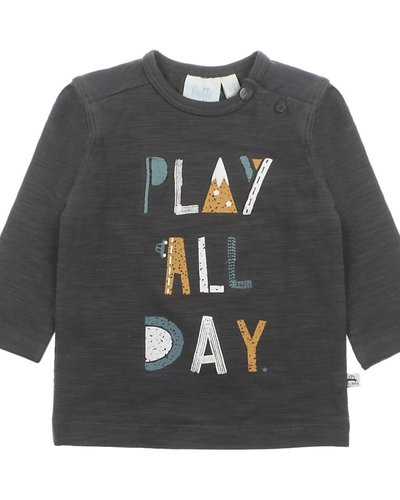 Feetje-baby Longsleeve Play All Day Antraciet - Cars