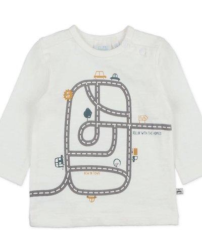 Feetje-baby Longsleeve Offwhite - Cars