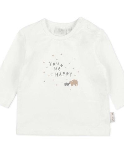 Feetje-baby Longsleeve You & Me Offwhite - Happy