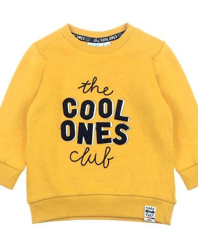 Feetje-baby Sweater Cool Ones Geel - Popcorn Power