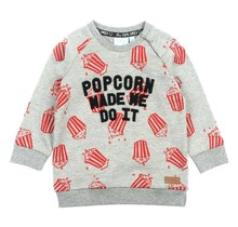 Sweater Made Me Grijs - Popcorn Power