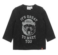 Longsleeve It's Great Zwart - Bear Hugs