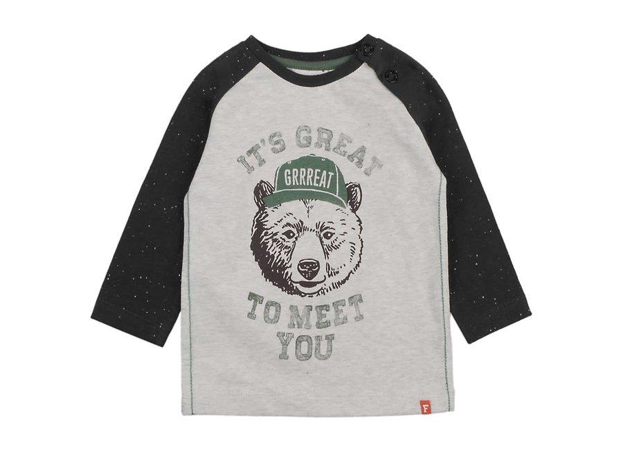 Longsleeve It's Great Grijs - Bear Hugs
