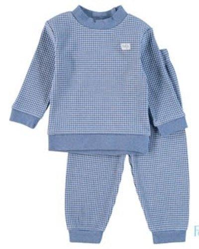 Feetje-baby Pyjama wafel Blue melange