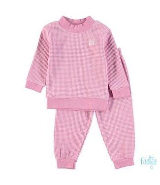 Feetje-baby Pyjama wafel  Roze melange