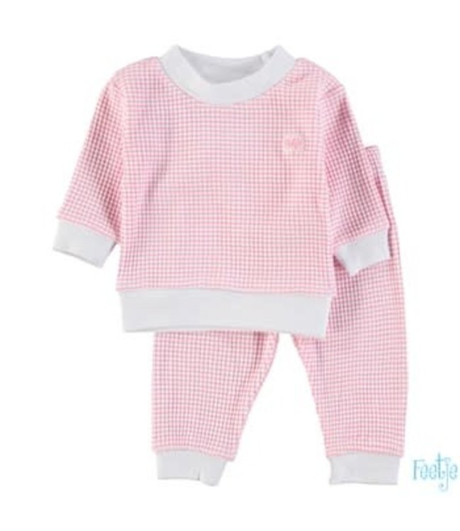 Feetje-baby Pyjama wafel Roze