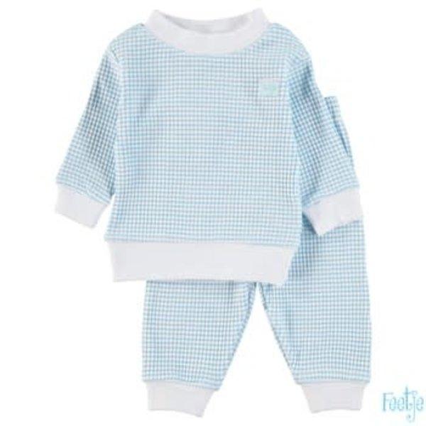 Pyjama wafel Azuur