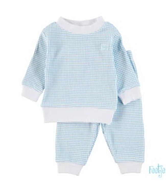 Feetje-baby Pyjama wafel Azuur