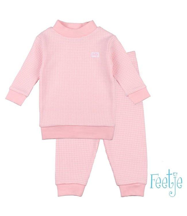 Feetje-baby Pyjama wafel Zalm
