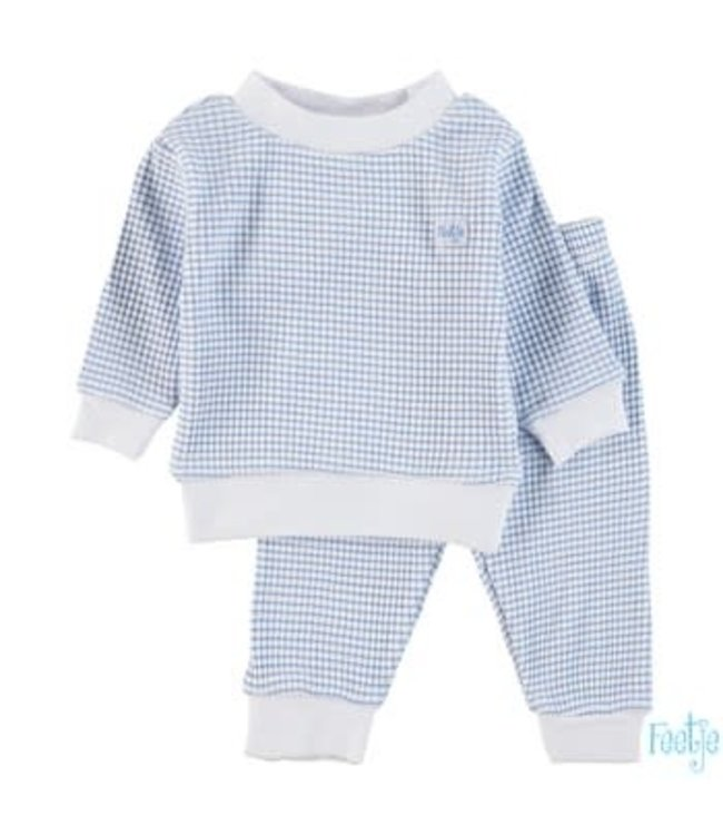 Feetje-baby Wafel pyjama Blue