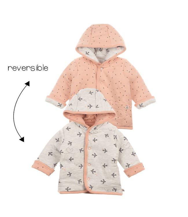 Feetje-baby Omkeerbaar jasje met capuchon Roze - Little and Loved