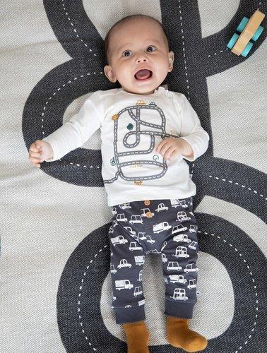 Feetje-baby Broek AOP Antraciet - Cars