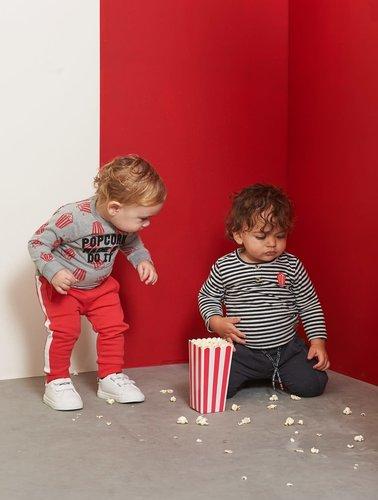 Feetje-baby Broek Zwart - Popcorn Power