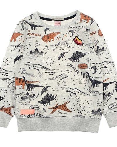 Sturdy Sweater AOP Zand - Dino-Mite