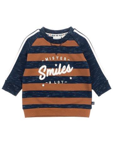 Feetje-baby Sweater Mister Smiles Marine - Smile & Roar