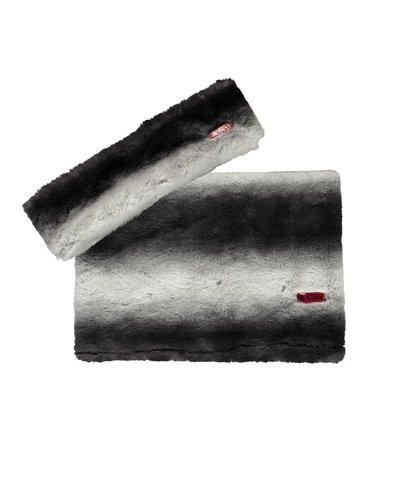 B.nosy Haarband en sjaal zwart/wit streep