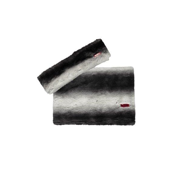 Haarband en sjaal zwart/wit streep