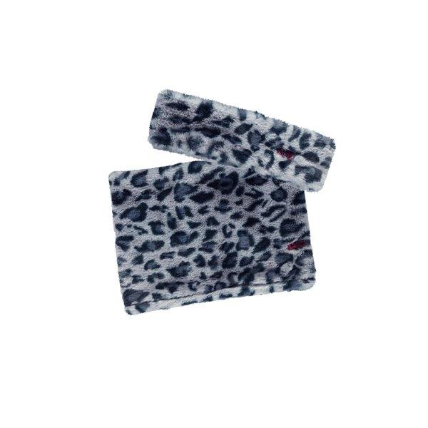 Haarband en sjaal Oxford blue panter