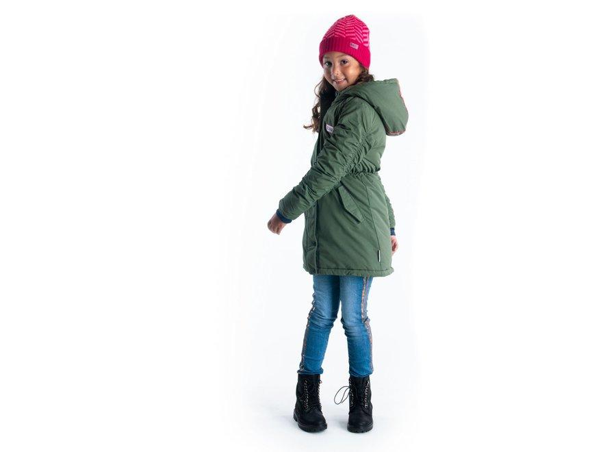 Girls parka army green