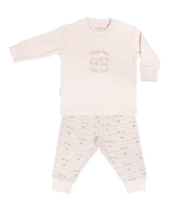 Frogs and Dogs Pyjama roze/blauw/mintgroen